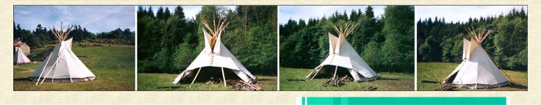Views of the small tipi model (3,60m/high)